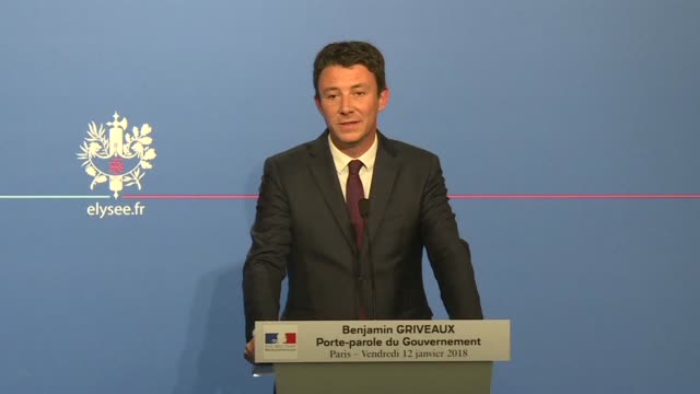 french government spokesman benjamin griveaux on friday reacted to us president trump's reported description of african nations haiti and el salvador... - benjamin griveaux stock videos & royalty-free footage