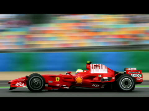 french grand prix 2008. - sports car stock videos & royalty-free footage