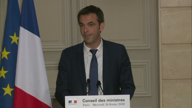vídeos de stock, filmes e b-roll de french health minister olivier veran says juventus fans will not be prevented from travelling to lyon for the teams champions league fixture on... - olympique lyonnais