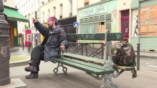 french homeless man has become a social media sensation chalking up nearly 20,000 followers on twitter with his account of life on the mean streets... - social media followers stock videos & royalty-free footage