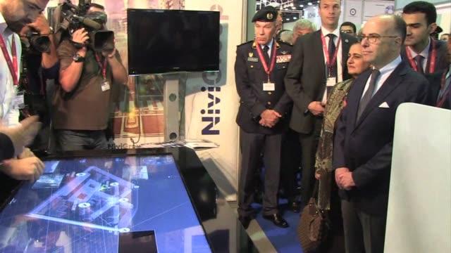 French Interior Minister Bernard Cazeneuve and Qatari Prime Minister Sheikh Abdullah bin Nasser bin Khalifa al Thani opened the Milipol Qatar 2014 an...