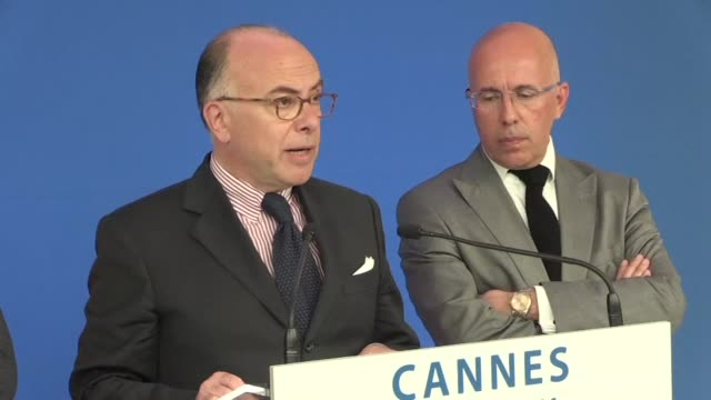 french interior minister bernard cazeneuve said on monday that he was rolling out exceptional security measures for the cannes film festival - bernard cazeneuve stock videos & royalty-free footage