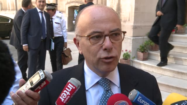 french interior minister bernard cazeneuve said on thursday he had instructed the paris police prefect to ban uberpop after protests by taxi drivers... - bernard cazeneuve stock videos & royalty-free footage