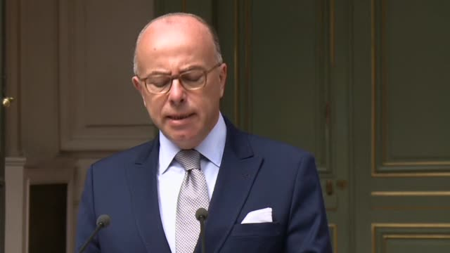 french interior minister bernard cazeneuve said wednesday that 120 additional police officers would be sent to calais to secure the eurotunnel site,... - bernard cazeneuve stock videos & royalty-free footage