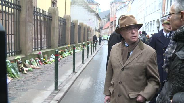 french interior minister bernard cazeneuve visited this sunday morning the synagogue where a second shooting took place in copenhagen saturday - bernard cazeneuve stock videos & royalty-free footage