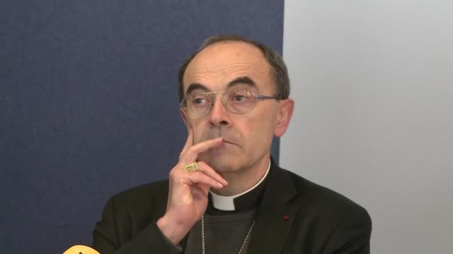 french investigators searched the offices of the diocese of lyon on wednesday over the alleged coverup of a paedophile priest a source close to the... - pedofili video stock e b–roll