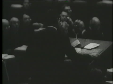 a french judge discusses criminal charges at the nuremberg trials with a montage of jews doing hard labor. - genocide stock videos & royalty-free footage