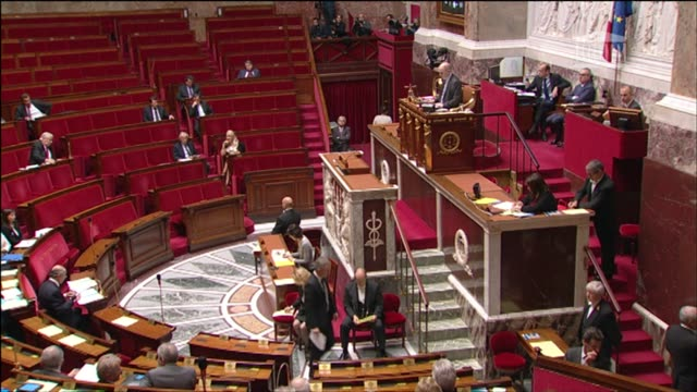 french lawmakers debate on friday a motion urging the government to recognise palestine as a state amid growing european frustration at the moribund... - legislator stock videos & royalty-free footage