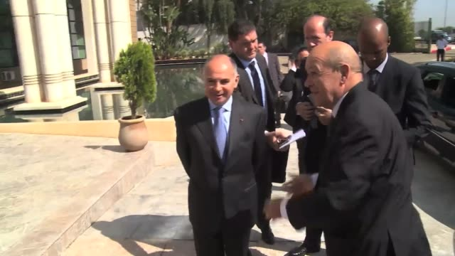 French Minister for Europe and Foreign Affairs JeanYves Le Drian meets with Foreign Affairs Minister of Morocco Nasser Bourita at Ministry of Foreign...