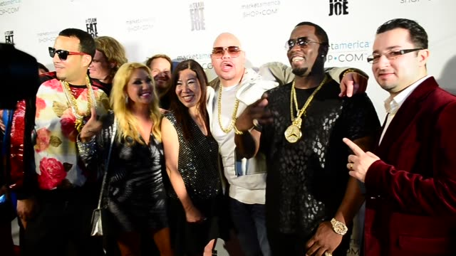 French Montana Elizabeth Weber Joanne Hsi Fat Joe P Diddy attend the Market America event in Celebrity Sightings in Miami