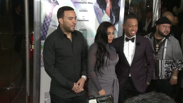 vidéos et rushes de french montana lauren london and terrence j at the perfect match los angeles premiere at arclight cinemas on march 07 2016 in hollywood california - arclight cinemas hollywood