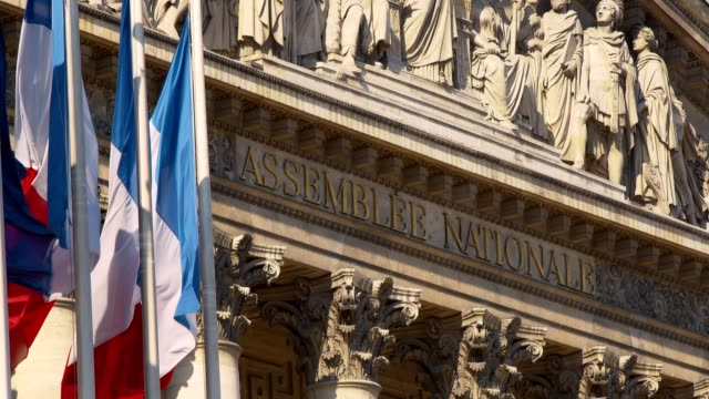 stockvideo's en b-roll-footage met franse nationale vergadering - palais bourbon - frankrijk