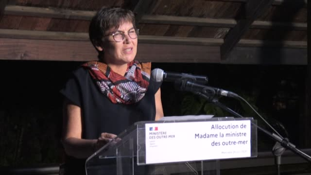 vídeos de stock, filmes e b-roll de french overseas minister annick girardin expresses reservations about reconfinement in french guiana - territórios ultramarinos franceses