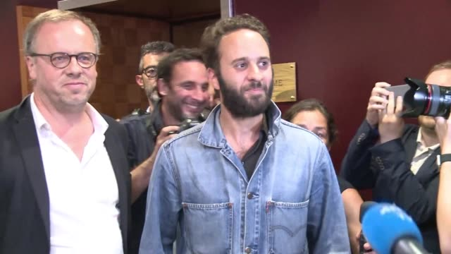 french photojournalist mathias depardon returns home after being freed by turkish authorities who detained him near the syrian border for a month - photojournalist stock videos & royalty-free footage