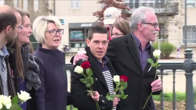 french police detain an it worker whose wife was murdered while out jogging in a grisly case that shocked the country - haute saone stock videos and b-roll footage