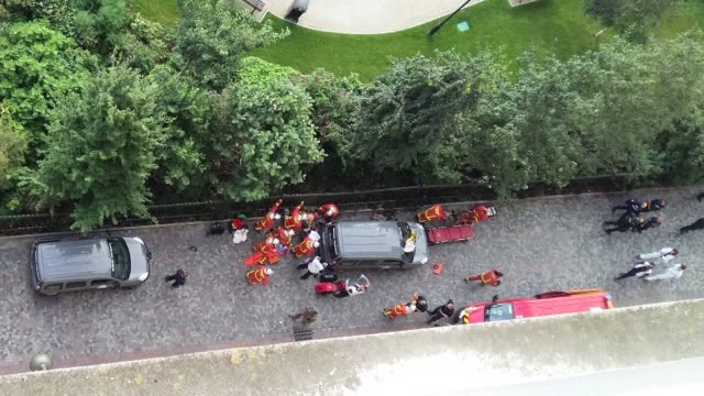 French police launched a manhunt on Wednesday after a car rammed into soldiers near their barracks outside Paris injuring six people two of them...