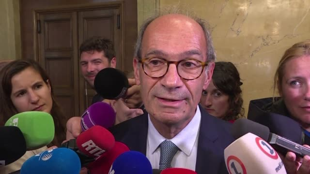 french politicians react to the death of jacques chirac the former french president who died in paris at the age of 86 - benjamin griveaux stock videos & royalty-free footage