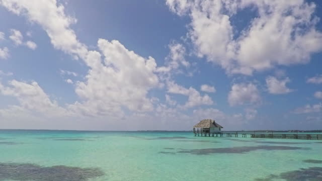 french polynesia fakarava island jetty 4k video time lapse - south pacific ocean stock videos & royalty-free footage