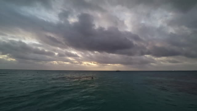 french polynesia sunset dramatic cloudscape time lapse - polynesia stock videos & royalty-free footage