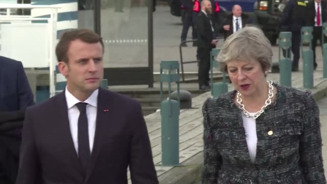 French President Emmanuel Macron and British Prime Minister Theresa May were in conversation on the 200m walk from the conference venue to lunch at...