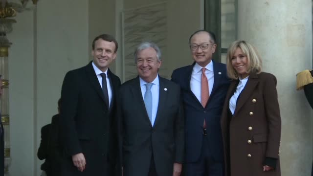 French President Emmanuel Macron hosted world leaders at the Elysee for lunch on Tuesday as they met to unlock more money to drive the global...
