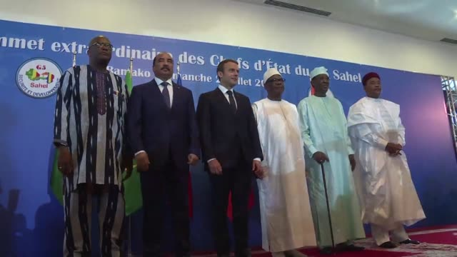French President Emmanuel Macron making a lightning visit to Mali throws his weight behind a planned Sahel force to fight jihadists but told...