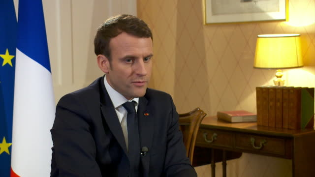 "french president emmanuel macron saying he believes people voted for brexit because they were ""losers of this new globalisation"" - westernisation stock videos & royalty-free footage"