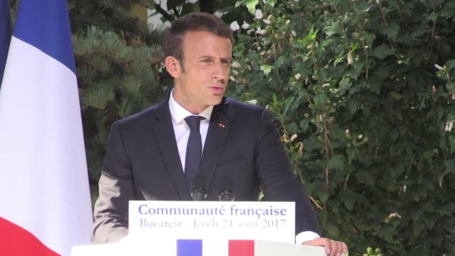 French President Emmanuel Macron says that his country and Romania should look ahead in their relationship during a visit to the French embassy in...