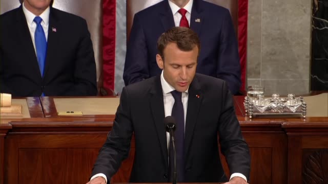 French President Emmanuel Macron tells members of Congress and guests in a joint meeting that he believes facing inequality should push to improve...