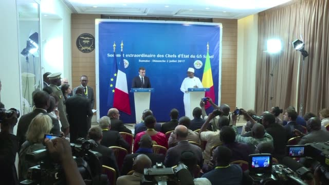 French President Emmanuel Macron throws his weight behind a planned Sahel force to fight jihadists on a lightning visit to Mali but tells countries...
