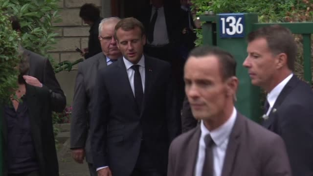 french president emmanuel macron visits the widow of a mathematician and communist militant who was tortured to death in 1957 during the algerian war - mathematician stock videos & royalty-free footage
