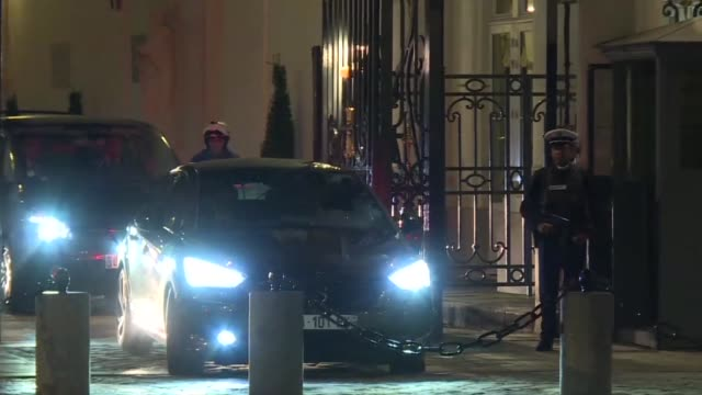 French President Francois Hollande and Prime Minister Manuel Valls return to the Elysee Palace early Friday after holding an emergency meeting and...