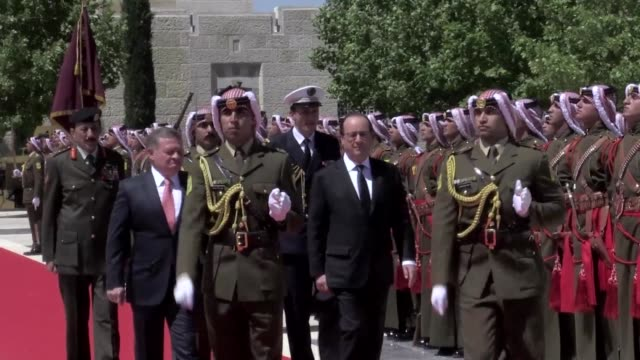 French President Francois Hollande arrived in Jordan as part of his regional tour and met with King Abdullah II on efforts to fight terrorism and...