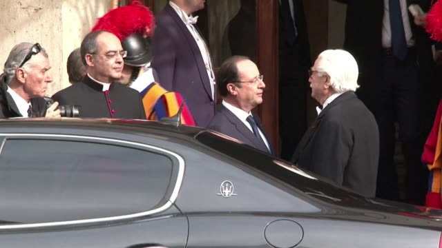 french president francois hollande met pope francis on friday amid a swirling scandal over his love life and deep divisions in france over hotbutton... - euthanasia stock videos & royalty-free footage