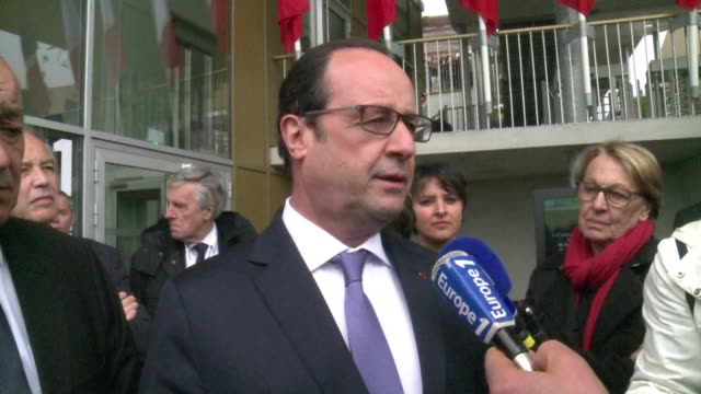 """stockvideo's en b-roll-footage met french president francois hollande on thursday vowed to """"show no mercy"""" if peacekeeping troops in the central african republic accused of raping... - west europa"""