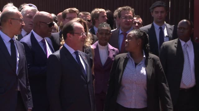 french president francois hollande paid a very emotional visit tuesday to the small house in soweto where peace icon nelson mandela lived before his... - prisoner icon stock videos & royalty-free footage