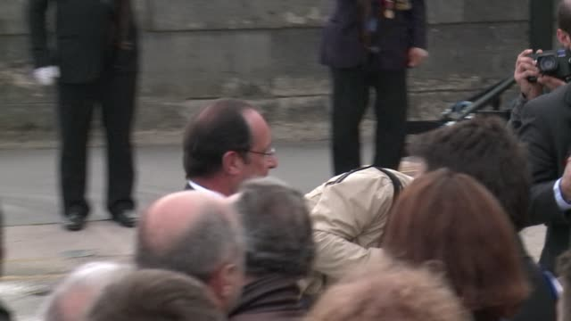 french president francois hollande will visit yerevan on april 24 2015 for the centennial of the mass killings in armenia - françois hollande stock videos & royalty-free footage