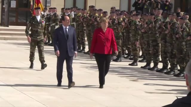 french president françois hollande and german chancellor angela merkel met in metz on thursday to preside over the 18th franco german ministers... - metz stock videos and b-roll footage