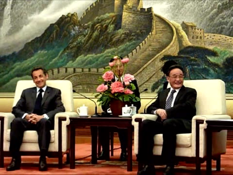 french president nicolas sarkozy and his wife carla brunisarkozy visited the great wall and the imperial ming tombs on thursday taking a tourism... - ming tombs stock videos and b-roll footage