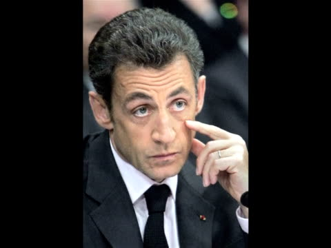 french president nicolas sarkozy insisted on wednesday that g20 leaders must use their london summit to crack down on tax havens warning that paris... - g20 leaders' summit stock videos & royalty-free footage