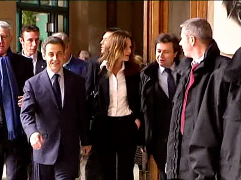 french president nicolas sarkozy's entourage went on the offensive on tuesday over rumours about the state of his marriage to former supermodel carla... - president of france stock videos & royalty-free footage