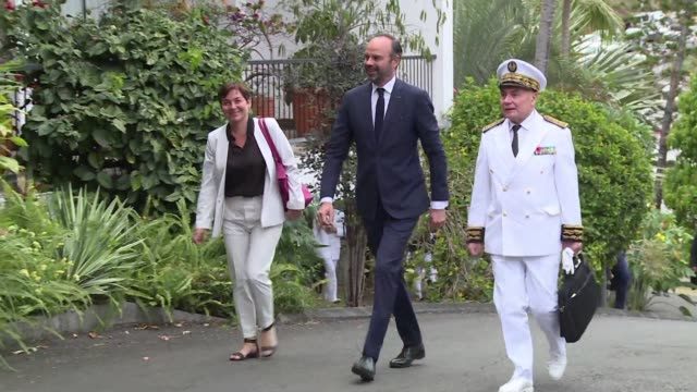 french prime minister edouard philippe arrives in new caledonia where he will meet with the political leaders following the territory's vote to... - french overseas territory stock videos & royalty-free footage