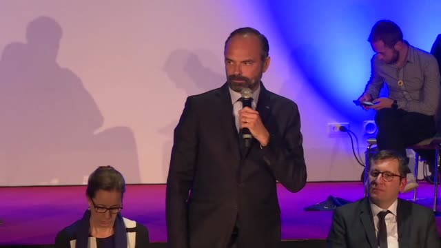 french prime minister edouard philippe criticises comments by steve bannon donald trump's controversial ex strategist on france's european election... - haute saone stock videos and b-roll footage