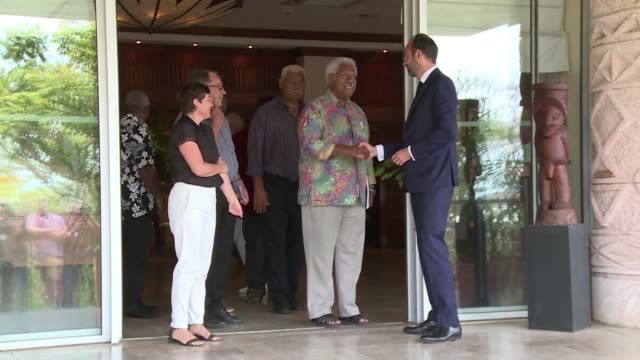 french prime minister edouard philippe meets new caledonian leaders after islanders on the french pacific territory rejected independence in a... - french overseas territory stock videos & royalty-free footage