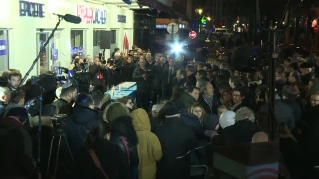 French Prime Minister Edouard Philippe pays homage to the victims of the attack on the Hyper Cacher grocery store in Paris three years after the...