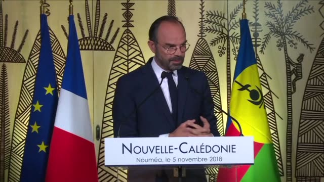 french prime minister edouard philippe says he will meet with new caledonia politicians in paris in december to draw the first conclusions from the... - french overseas territory stock videos & royalty-free footage