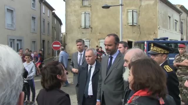 french prime minister edouard philippe says that the government will implement accelerated natural disaster claims and payment procedure following... - aude stock videos & royalty-free footage