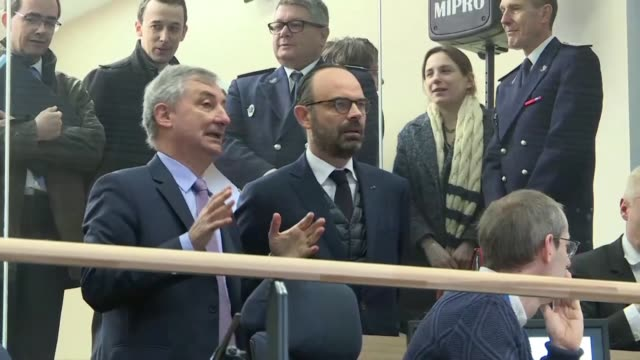 french prime minister edouard philippe visits the eurotunnel site as he visits the northern port of calais a day after activating plans for a no deal... - off stock videos & royalty-free footage