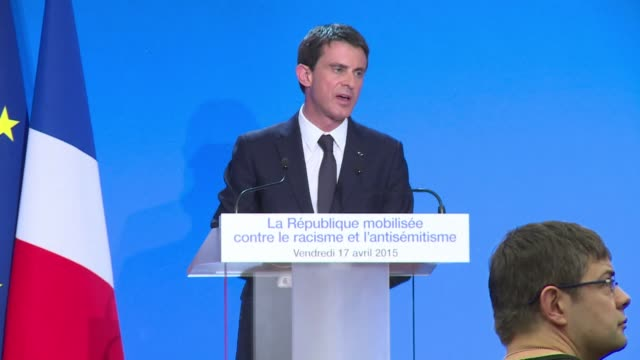 french prime minister manuel valls on friday warned against a rise in racism anti semitism hatred of muslims and of foreigners homophobia which he... - homophobia stock videos and b-roll footage