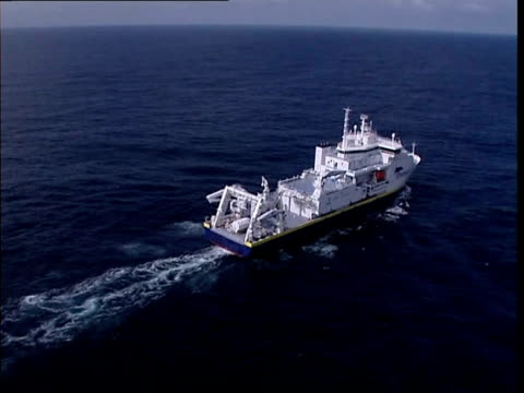french research ship equipped with two mini-submarines is on its way to a stretch of the atlantic where an air france flight carrying 228 people... - 50 seconds or greater stock videos & royalty-free footage